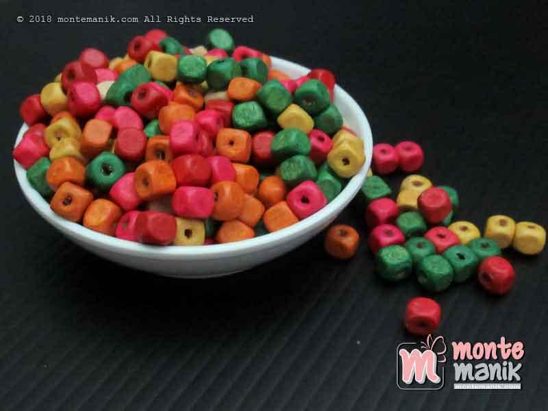 Manik Kayu Kotak 6 mm (MKU-01)