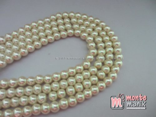 Mutiara Sintetis 6 mm Broken White (MTO-011)