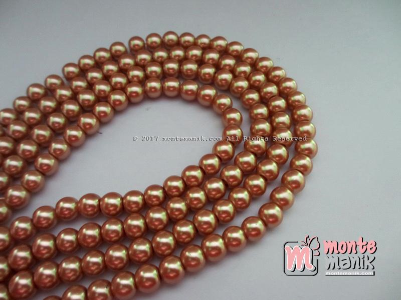 Mutiara Sintetis 6 mm Coklat Muda (MTO-020)