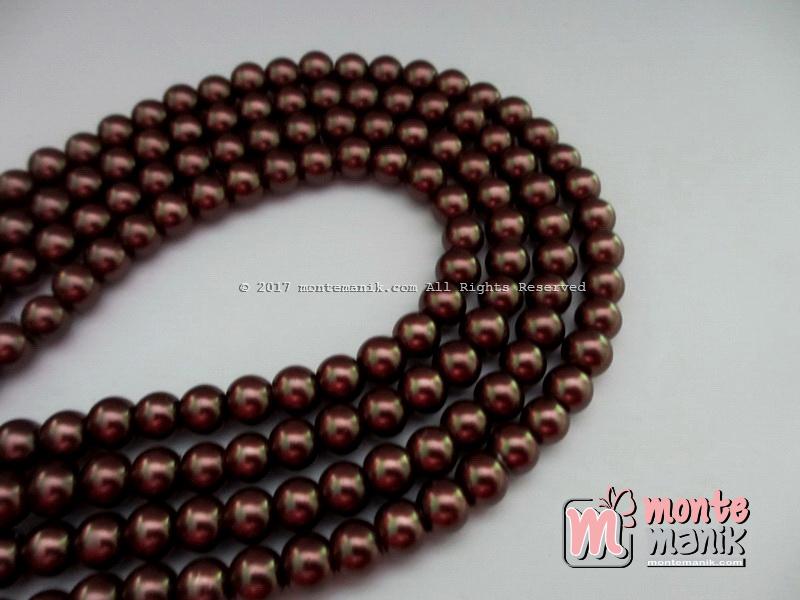 Mutiara Sintetis 6 mm Coklat Tua (MTO-013)
