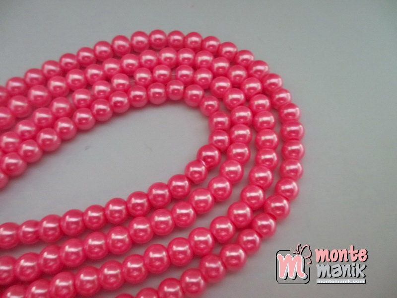 Mutiara Sintetis 6 mm Hot Pink (MTA-02)