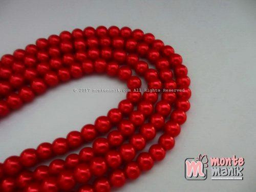 Mutiara Sintetis 6 mm Merah (MTO-016)