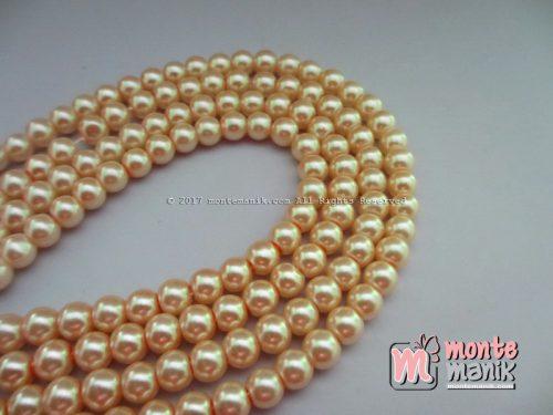 Mutiara Sintetis 6 mm Peach Muda (MTO-014)