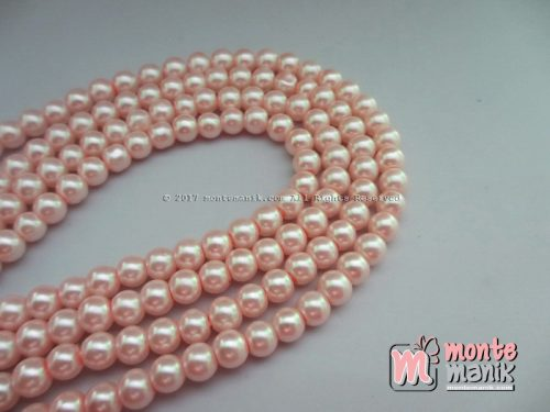 Mutiara Sintetis 6 mm Soft Pink (MTO-024)
