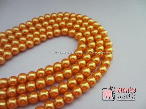 Mutiara Sintetis 6mm Oranye Jeruk (MTO-09)