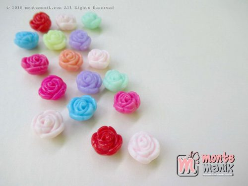 Monte Pastik Bunga Mawar Bulat 10 mm (PLA-029)