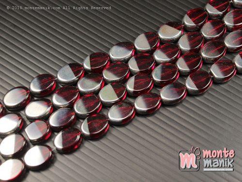 5 Butir Manik Kaca Candy Silver Merah 10 mm (MKACA-03)
