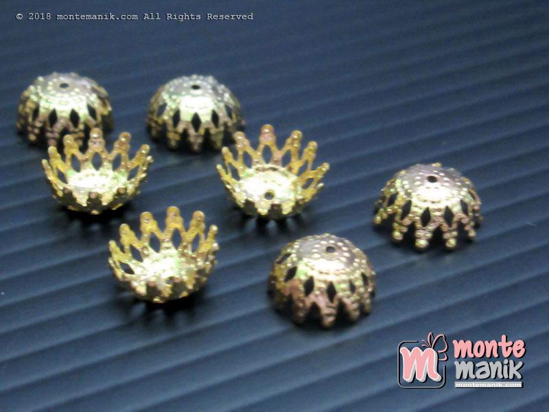 Cangkang Bunga Mangkok 8 mm Gold (CKB-04)