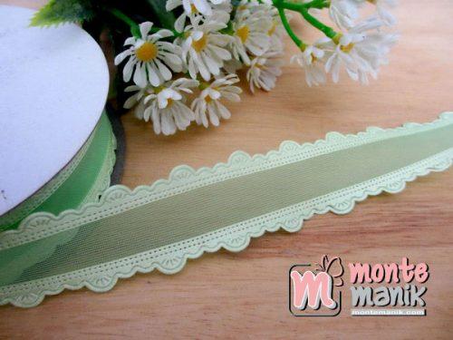 pita-organdie-list-renda-hijau 2,2cm