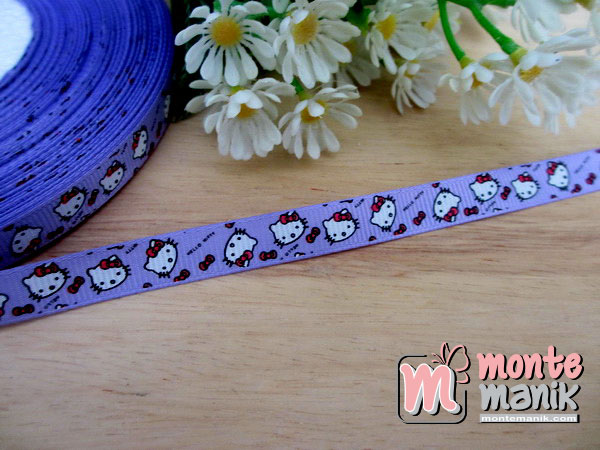 pita-grosgrain-hello-kitty-ungu-1-cm