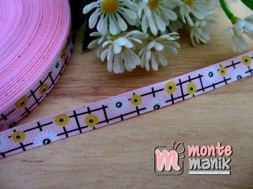 pita-grosgrain-sunflowers-pink-1-cm