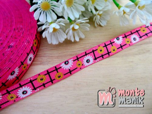 pita-grosgrain-sunflowers-hot-pink-1-cm
