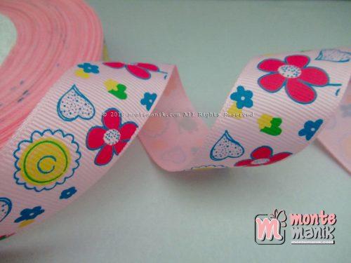 Pita Grosgrain Taman Katak Pink 1 inc (PITA-036)