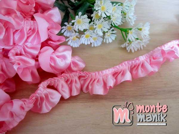 renda-kerut-satin-2,5cm-pink