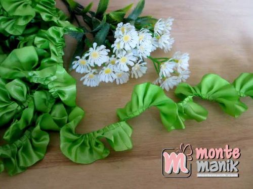 renda-kerut-satin-2,5cm-hijau