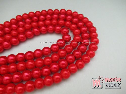 Mutiara Sintetis 8 mm Merah ( MTA-04)