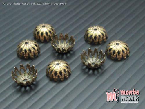 Cangkang Bunga Mangkok 8 mm Bronze (CKB-07)