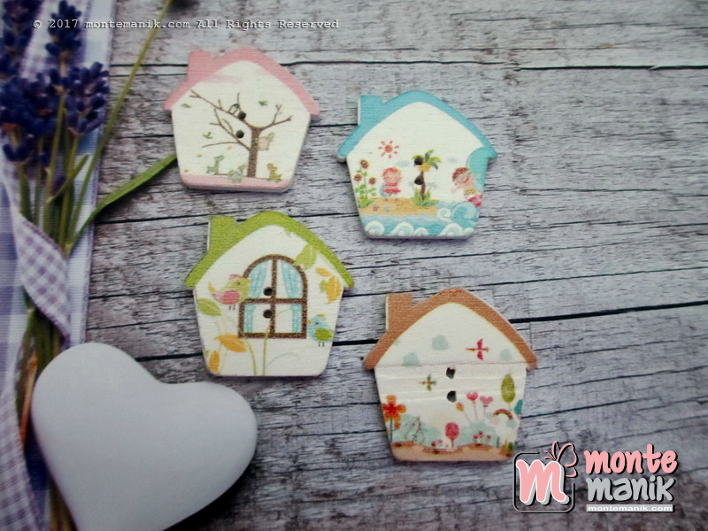 Kancing Kayu Fairy House (KKN-053)
