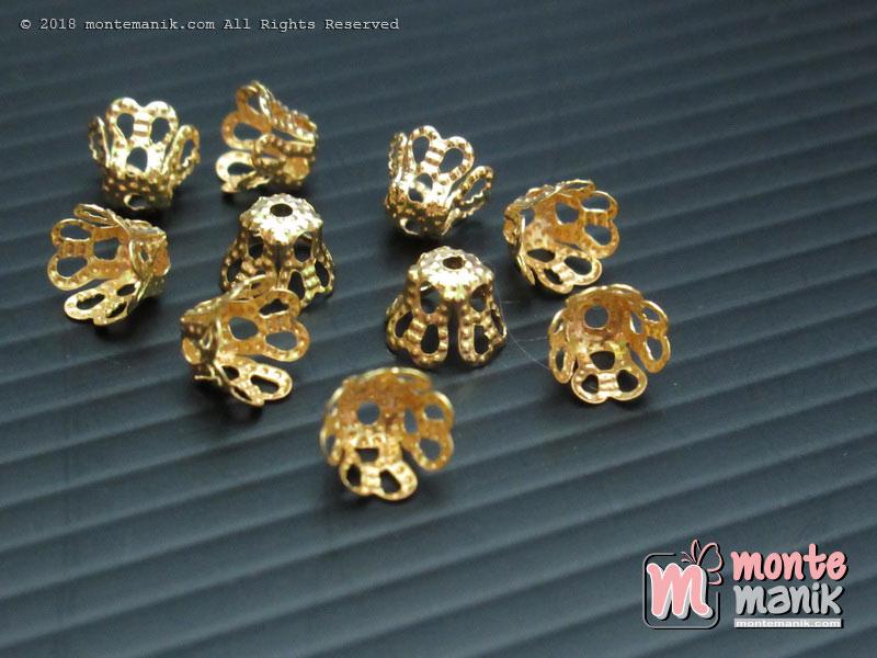 Cangkang Bunga Bakul 8 mm Gold (CKB-014)