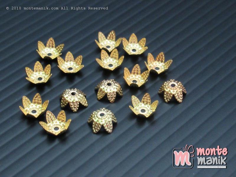 Cangkang Bunga Cakram 6 mm Gold (CKB-010)