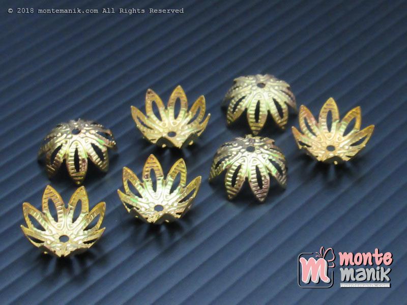 Cangkang Bunga Teratai 12 mm Gold (CKB-016)
