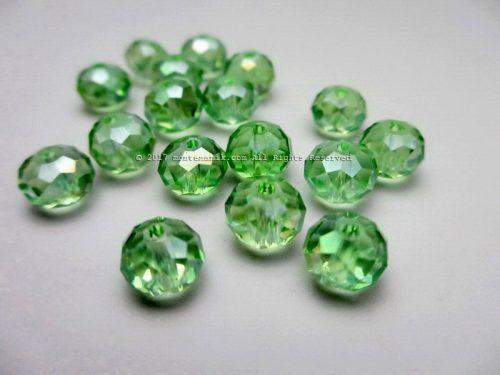 Manik Kristal Donat Hijau 8 mm (KRISTAL-010)