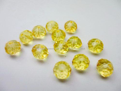 Manik Kristal Donat Kuning 8 mm (KRISTAL-07)