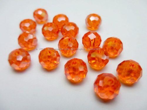 Manik Kristal Donat Orange 8 mm (KRISTAL-08)
