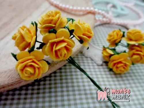 bunga-kertas-mawar-kuning