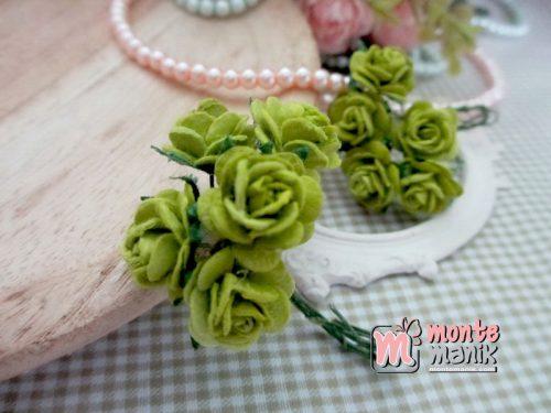 bunga-kertas-mawar-hijau