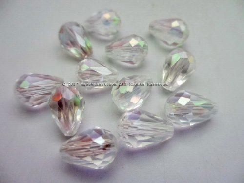 Manik Kristal Tetes Putih 8 mm (KRISTAL-017)