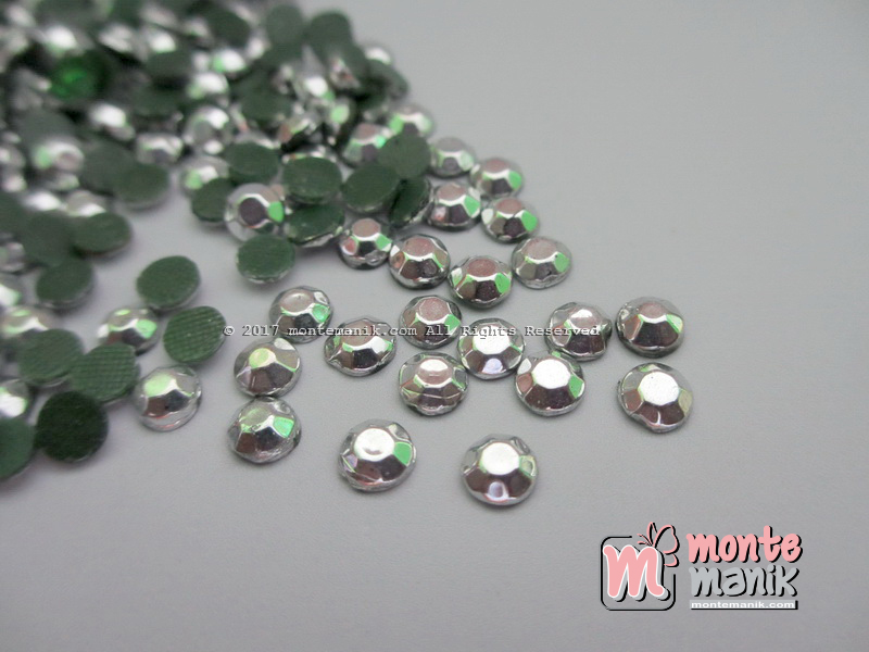 Aplikasi Diamond Tempel Silver 3 mm (DMD-038)