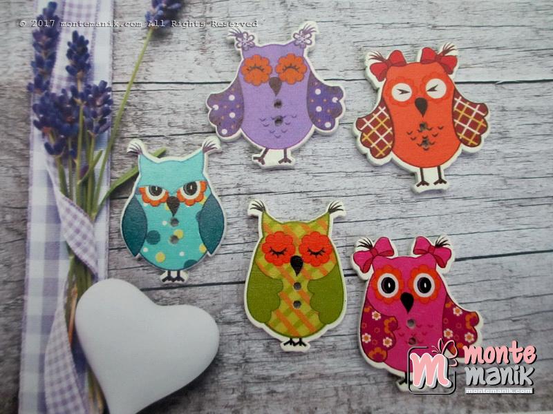 Kancing Kayu Funny Owl (KKN-072)