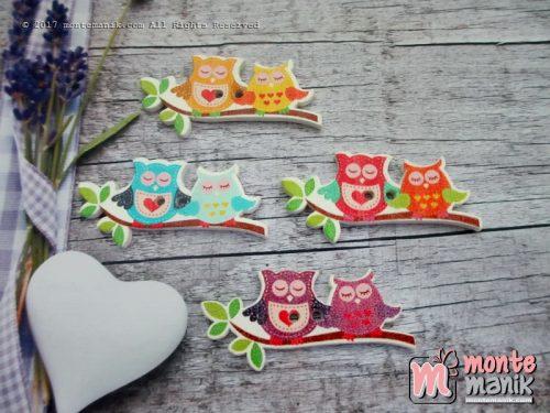 Kancing Kayu Romantic Owl (KKN-065)
