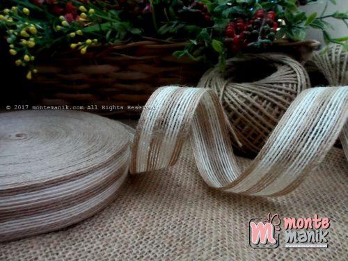 Pita Goni Stripes Putih 2,7cm (GONI-019)