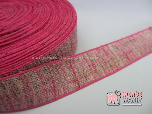 Pita Korea Linen Fuchia 1 inch atau 2,5 cm (PITA-182)