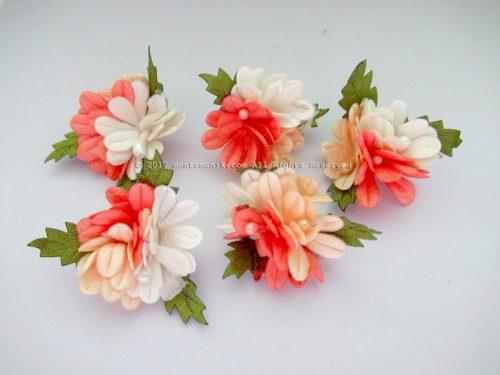 Aplikasi Bunga Krisan 3 warna Peach (APB-050)