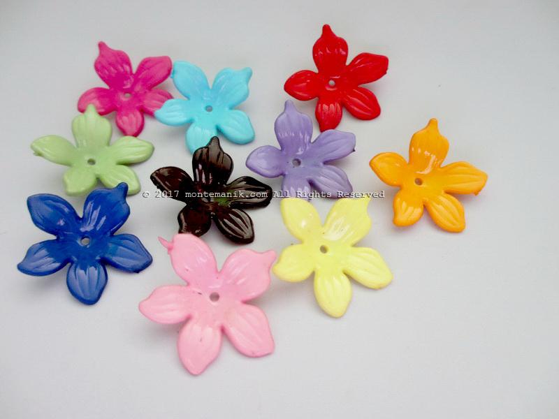 Manik Plastik Bunga Bawang 2,5 cm (PLA-048)