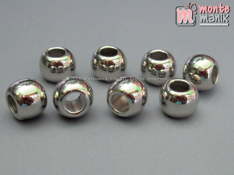 Pembatas Bulat Plastik 10 mm Silver (SPACER-029)