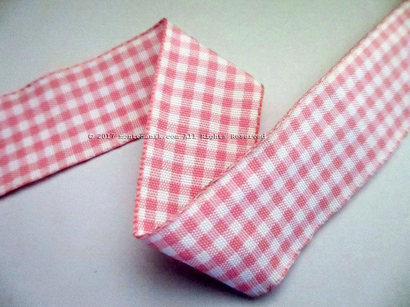 Pita Gingham Pink dan Putih 1″ atau 2,5cm (PITA-199)
