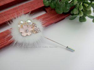 White Shinta Stick Pins (PDL-022)