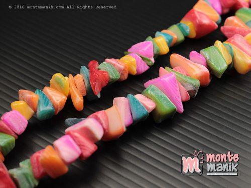 1 String Manik Kerang Kerikil Campur warna (MNKG-021)