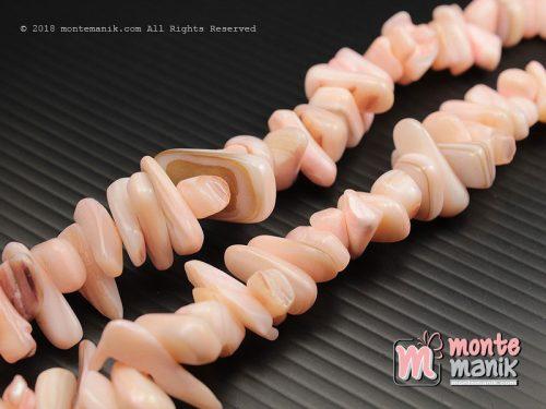 1 String Manik Kerang Kerikil Soft Pink (MNKG-020)
