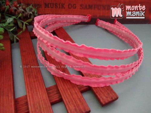 Bando Besi Lapis Pita Grosgrain Hot Pink (BND-021)