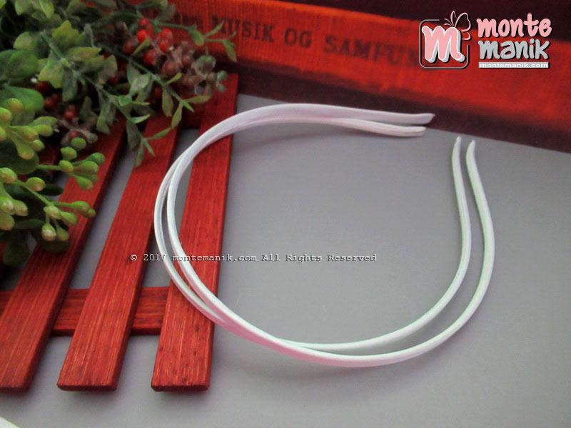 Bando Besi Lapis Satin Putih (BND-019)