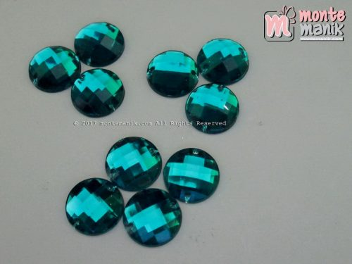 Diamond Rhinestone Bundar Hijau Tosca 12 mm (DMD-044)