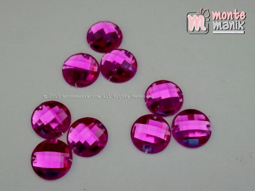 Diamond Rhinestone Bundar Ungu 12 mm (DMD-046)