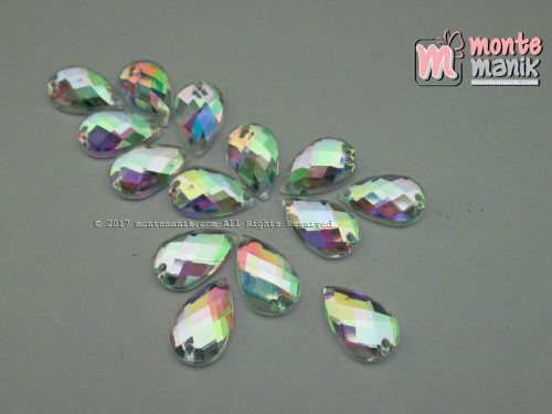 Diamond Rhinestone Tetes Clear Rainbow 7 x 12 mm (DMD-045)