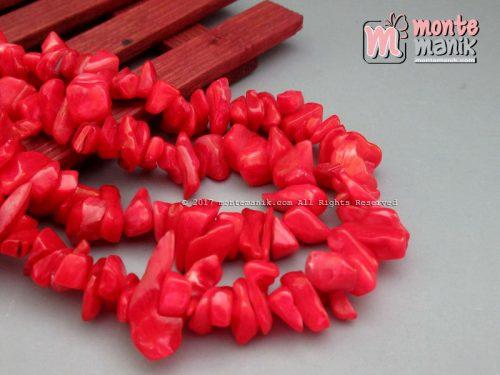 Manik Kerang Kerikil Warna Merah (BTH-06)