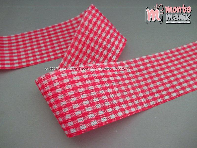 Pita Gingham Hot Pink 5 cm (PITA-203)